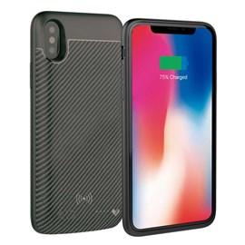 Capa bateria carbon wireless iPhone X-XS 3000mah p