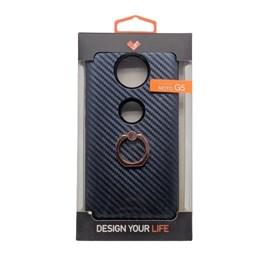 Capa carbon anti-impacto com ring Motorola Moto G5