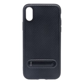 Capa carbon lines com stand iPhone X pr