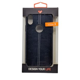 Capa couro pesponto iPhone X-XS azm
