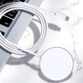 Carregador wireless Magsafe 15W 3700S Branco.