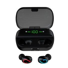 Fone De Ouvido Bluetooth C2 LED Light Tws Preto